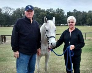 Snowflake with Mitch & Mary Jo Ward, her sponsors