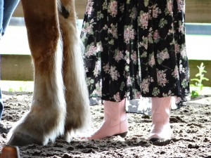 Irene's pink cowboy boots were a constant reminder of her strength and stamina against all odds. (click to download high resolution image for print)